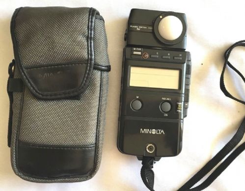 MINOLTA FLASHMETER 1V WITH CASE